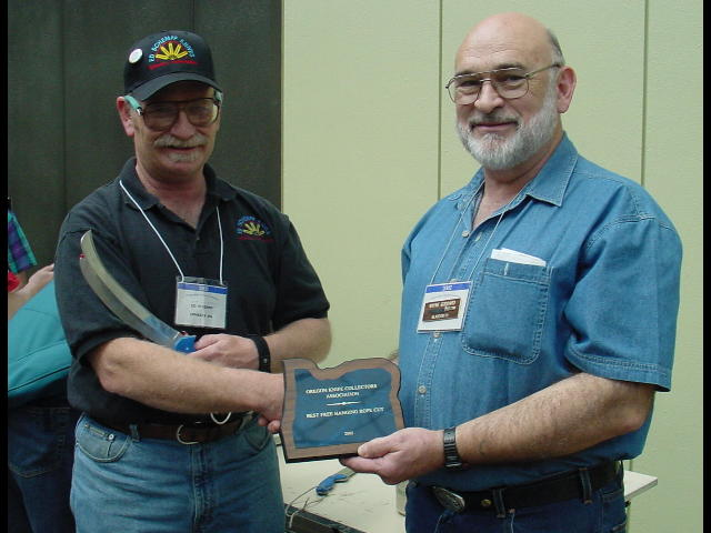 The Winner - Ed Schempp (left) presented by Wayne Goddard